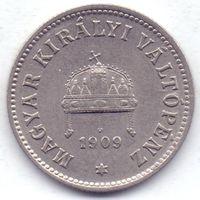 Австро-Венгрия, 10 филлеров 1909 года.