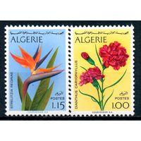 Цветы Алжир 1974 год серия из  2 чистых марок