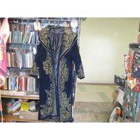 Казахский национальный костюм: халат(чапан, размер 50-52/4) и колпак 57 размера. Велюр.