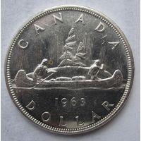 Канада, доллар, 1963, серебро