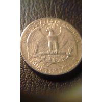 25 центов  \квотер\ 1965   США