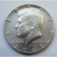 США, 1\2 доллара, 1969, серебро