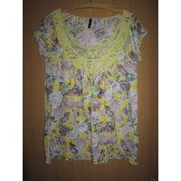 Блузочка тоненькая Amisu нежная летняя расцветка. Как новая
