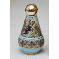 Баночка керамическая с крышкой для церковного масла, с иконами, из Греции