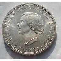 Дания, 2 кроны, 1958, серебро