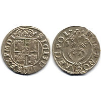 Полторак 1616, Сигизмунд III Ваза, Быдгощ. Рв: герб Сас в щите. Остатки штемпельного блеска, коллекционное состояние