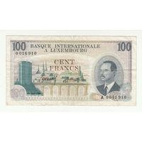 Люксембург 100 франков 1968 года. Редкая!