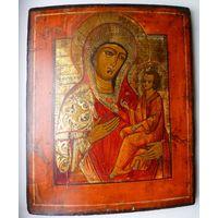 Икона Божией Матери Тихвинская.19 Век.В Идеале.Увеличенный Аналой!По Серебру.