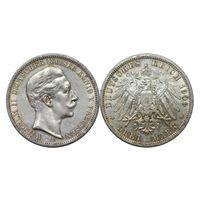Германия, 3 марки 1909 год, - А -