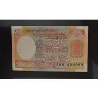 Индия 2 рупии 1975-1996 VF степплер