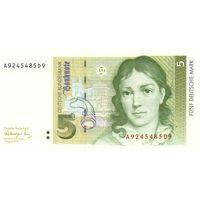 Германия 5 марок 1991 UNC