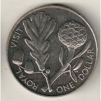 Новая Зеландия 1 доллар 1981 Королевский визит