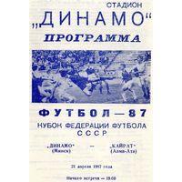 Динамо Минск - Кайрат Алма-Ата 21.04.1987г. Кубок федерации.