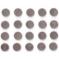 Бельгия, 1 франк. Belgiё и Belgique. ПОГОДОВКА, 1952-1988, монеты