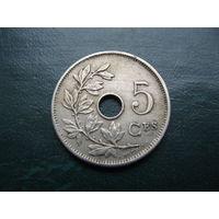 5 сантимов 1905 г. Бельгия.