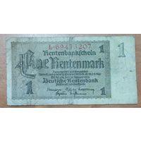 1 рентмарка 1937 года - Германия (Ro.166b) - широкий номер 8 цифр