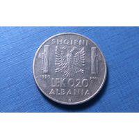 0.2 лек 1939. Магнетик. Албания. Итальянская оккупация (1939 - 1943). Тираж 900.000! Единственное предложение на АУ!