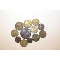 Сборка монет, разных, в основном СССР, всего 12 штук.