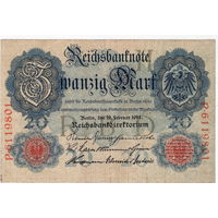 Германия, 20 марок, 1914 г. *