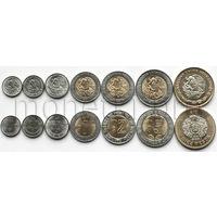 Мексика 7 монет 2016-2017 годов.