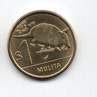 ВОСТОЧНАЯ РЕСПУБЛИКА УРУГВАЙ 1 ПЕСО 2012. БРОНЕНОСЕЦ