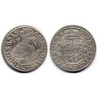 Орт 1624, Пруссия, Георг Вильгельм. Вариант портрета в меховой мантии, R