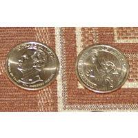 США 1 доллар 2016 Ричард Никсон 37й президент UNC