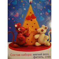 """Набор для детского творчества """"Сделай свечу своими руками"""""""