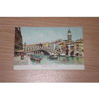Италия Венеция Ponte di Rialto  литография