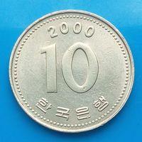 10 вон 2000 ЮЖНАЯ КОРЕЯ