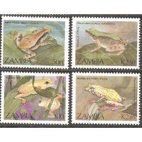Замбия 1989 Фауна Лягушки 4 марки