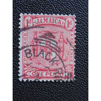 Английская Ямайка 1906 г. Герб.