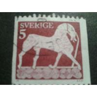 Швеция 1973 конь