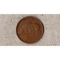 Ирландия 1/2 пол 0,5 пенни 1942/фауна(Bh)