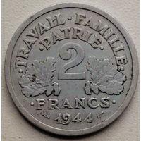 Франция 2 франк 1944