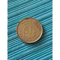 Бельгийское Конго 5 франков 1947 г.