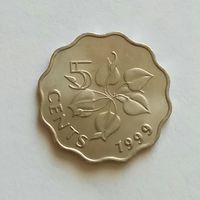 Свазиленд (Эсватини) 5 центов 1999