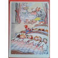 """Гольц Н. Иллюстрация к сказке Ш.Перро """"Мальчик-с-пальчик"""". 1958 г. Чистая"""