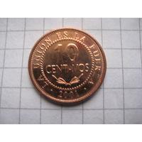 БОЛИВИЯ 10 СЕНТАВО  2001 ГОД