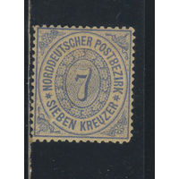 Северо-германский союз Германия 1869 Номинал Стандарт #22*