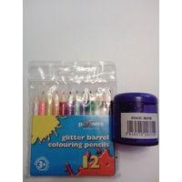 Набор цветных карандашей с точилкой