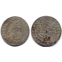 Орт 1668 TLB, Ян II Казимир Ваза, Быдгощ. Ав - TLB  под портретом, герб Слеповрон в щите внизу