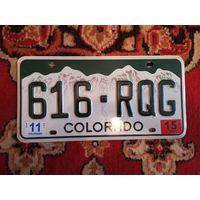 Автомобильный номерной знак США штат Колорадо