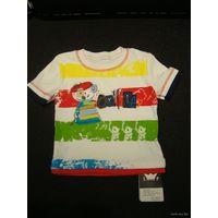 Новая маечка, футболка для ребенка 12 мес. 100% хлопок!