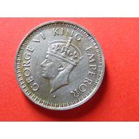 1/4 рупии 1944 года