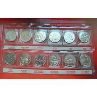 """Канада 1999 набор памятных монет серия """"Миллениум"""" 25 центов (квотер)"""
