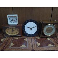 Часы СССР разные будильник настольные настенные с 1 РУБЛЯ !