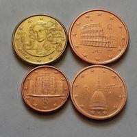 Набор евро монет Италия 2017 г. (1, 2, 5, 10 евроцентов)