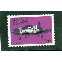 Гренада и Гренадины. Ми-186.Авиация.Самолет Апач.1976.