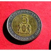 06-05 Кения, 5 шиллингов 2009 г.